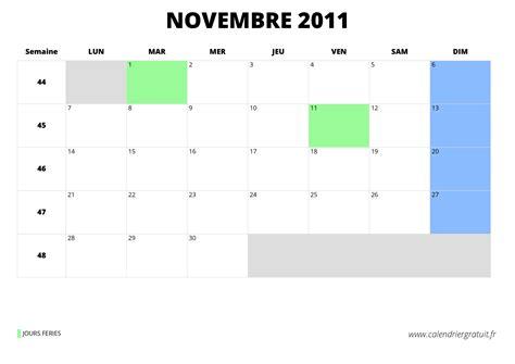 Calendrier Lunaire Novembre 2011 Calendrier De Novembre 2011 224 Imprimer