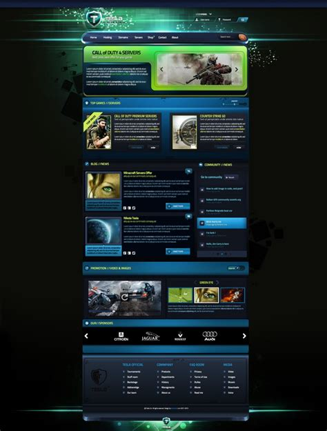gaming templates tesla gaming template for sale by boriswick on deviantart