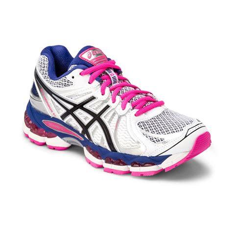 asics gel nimbus 15 womens running shoes white blue