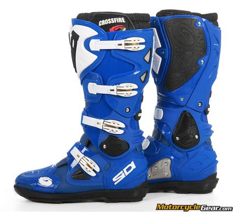 blue motorbike boots viewing images for sidi crossfire srs boots