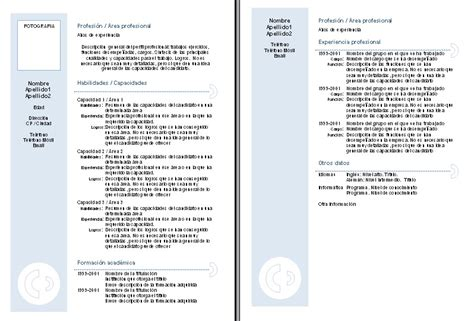 Plantilla De Curriculum Vitae Estudiante Plantillas Curriculum Vitae Combinados Curriculums Vitae