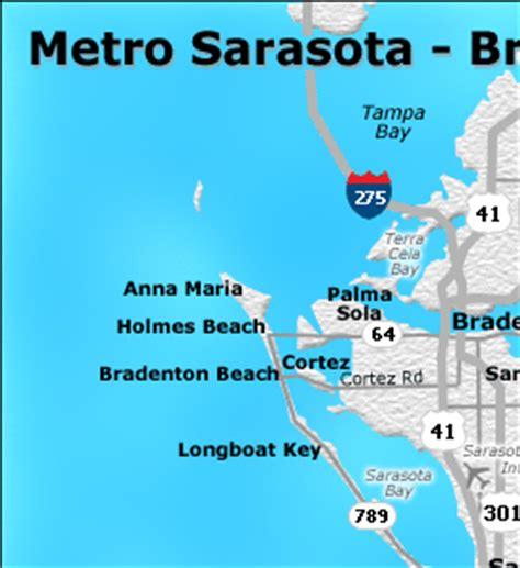 map of bradenton florida and surrounding area sarasota bradenton metro map