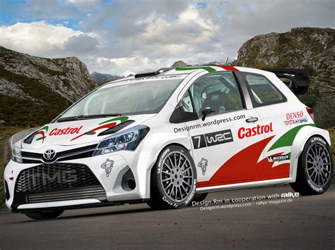 toyota rally car upcoming toyota yaris wrc might look like this