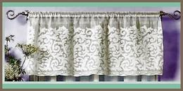 paisley lace curtains paisley madras lace valance direct from london lace