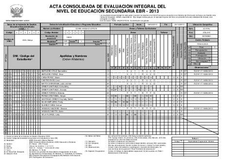 descargar registro auxiliar secundaria gratis modelo de acta