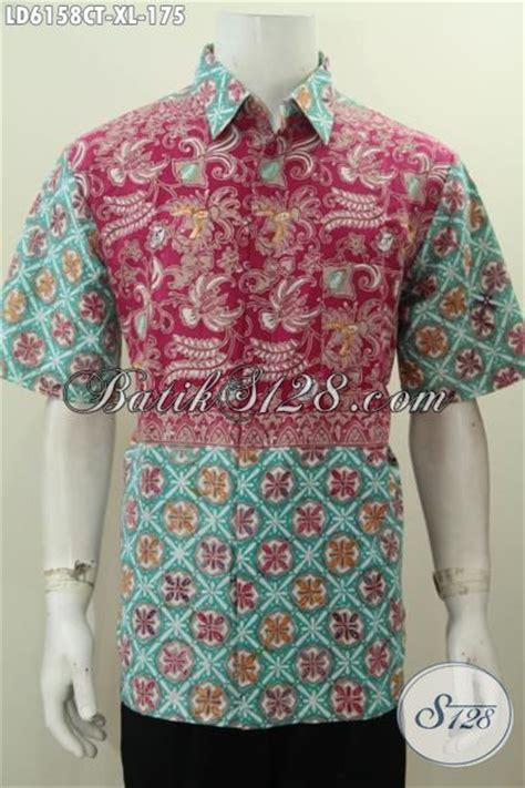Kemeja Batik Pria Batik Tulis Lengan Pendek Warna Soft Baru Code B L jual baju batik dual warna kemeja batik halus lengan pendek proses cap tulis untuk