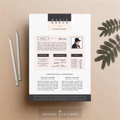 Curriculum Designer Cover Letter by 3pk Resume Cv Template Cover Letter For Ms Word Instant Digital The Quot Modernista