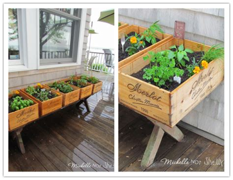 how to build an herb garden how to build a herb garden with wine crates for your deck
