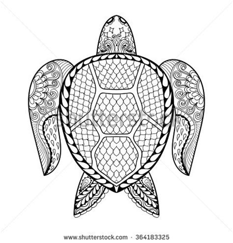tribal turtle coloring page reptile tribal stock photos images pictures shutterstock