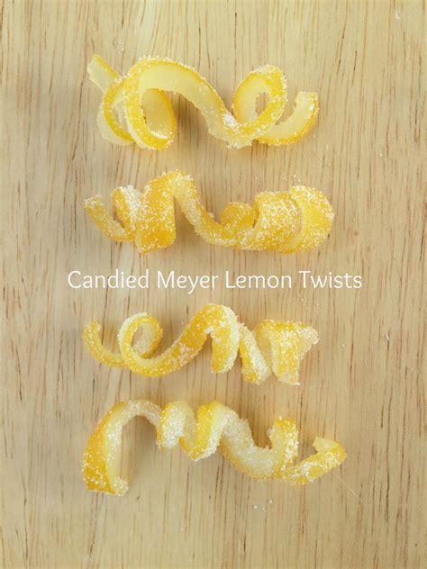 How To Make Lemon Twists by Jac O Lyn Murphy Candied Meyer Lemon Twists