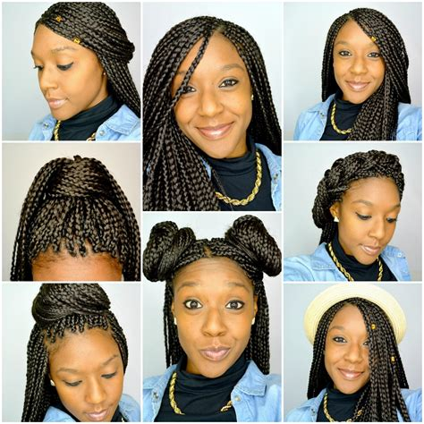 Different Hairstyles For Box Braids by 6 Styles For Box Braids Within Different