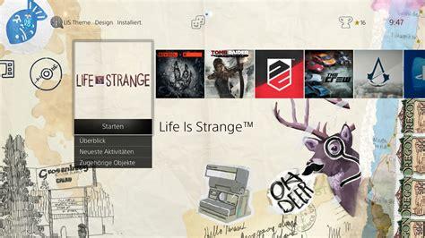 ps4 themes vorschau life is strange season k 228 ufer erhalten kostenloses ps4 theme