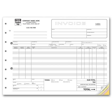 wholesale invoice froms 119 at print ez