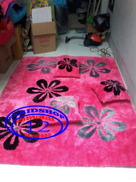 Karpet Bulu Motif Hello jual karpet motif minimalis karpet bulu rasfur matras