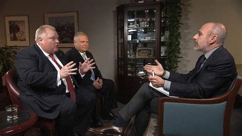 rob ford toronto mayor on matt lauers today show no matt lauer pushes rob ford on alleged drug use in today
