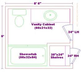 How To Design A Bathroom Floor Plan 8x8 Bathroom Floor Plan Bathrooms Bathroom