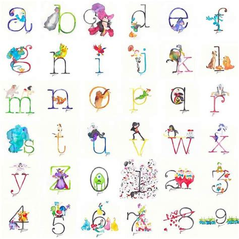 disney alphabet 35 best disney letters and numbers images on pinterest