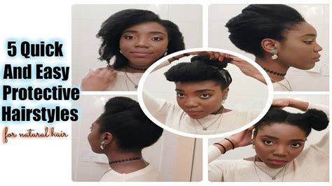 quick and easy hairstyles on youtube 5 quick and easy hairstyles for natural hair youtube