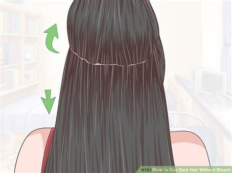dark green hair turquoise without bleach how to dye dark hair without bleach with pictures wikihow