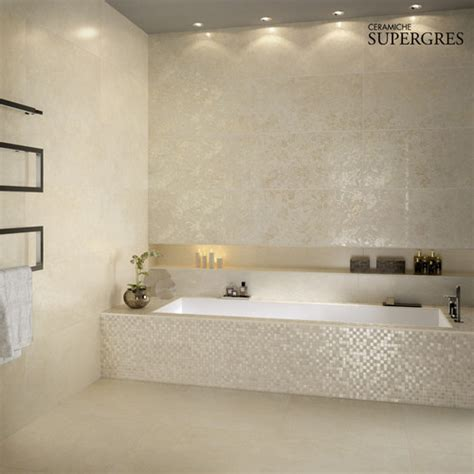 how to get the bathroom tiling effect on a budget what is the tile around the bath tub that has the shimmery