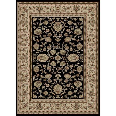 8 X 9 Area Rugs Tayse Rugs Sensation Black 8 Ft 9 In X 12 Ft 3 In Traditional Area Rug 4723 Black 9x12 The