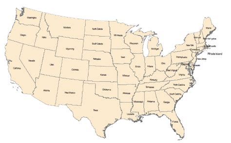 america map test us map