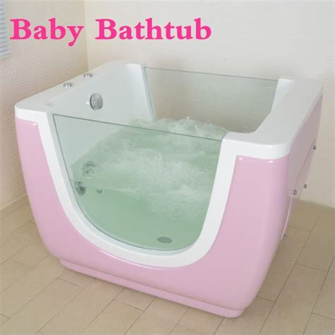 baby jacuzzi bathtub surf spas acrylic pink whirlpool massage jets baby bath