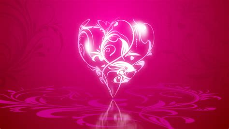 pattern formation heart graceful background by valentine s day stock footage video