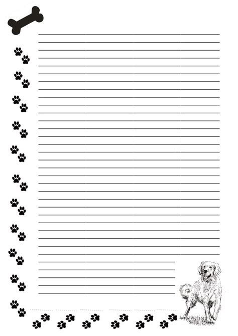 printable writing paper with dogs free stationary dog paws by cpchocccc on deviantart