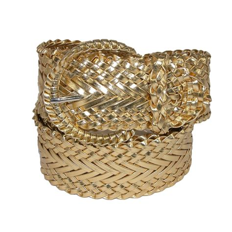 womens 2 inch wide adjustable braided belt by ctm