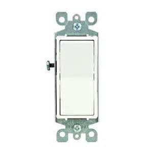 home depot light switch leviton decora 15 single pole ac switch white