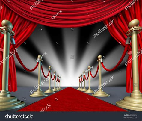 premier curtains red carpet curtains hollywood premier grand stock