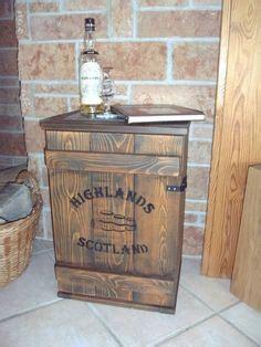 schuhe schrank shabby frachtkiste mini bar vintage couchtisch whiskey