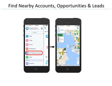 Find Nearby Sales Rep App Screenshots Check In
