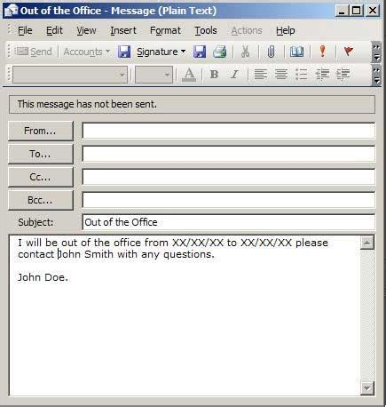 best photos of templates out of office replies out of