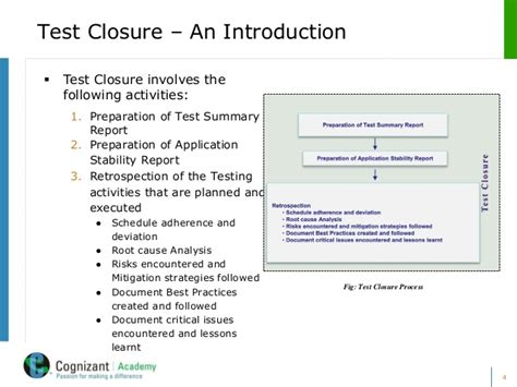 test closure report template day 8 fundamentals of test closure v 1 0