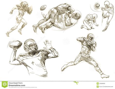 american football players collections royalty  stock