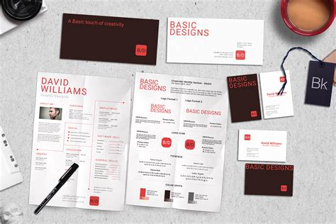 Branding Kit Mockup Basic Stationery Templates On Creative Market Branding Kit Template