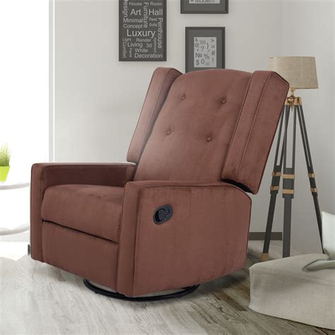 Nursery Glider Recliner Costway Rakuten Costway Swivel Glider Recliner Sofa Chair Gliding Upholstered Nursery Room