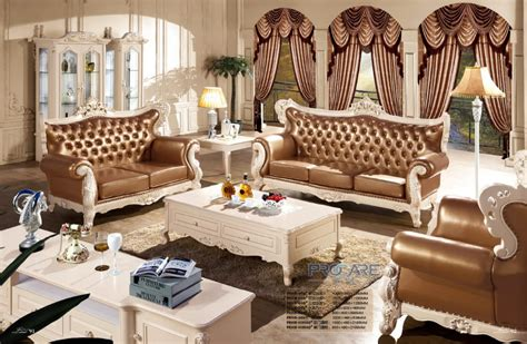 Italian Style Living Room Furniture Luxury Modern Italian Style Leather Sofa Set For Living Room Furniture Prf609 In Living Room