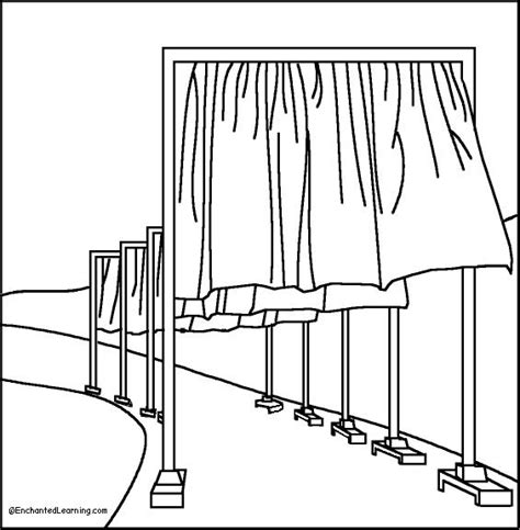 fence with gate coloring page coloring pages