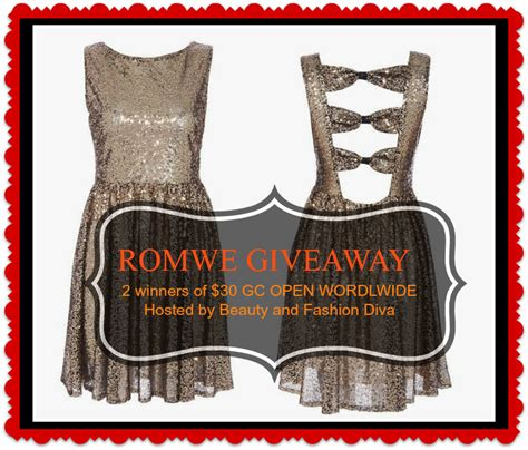 Romwe Gift Card - romwe gift card giveaway open worldwide 2 winners beauty and fashion divas