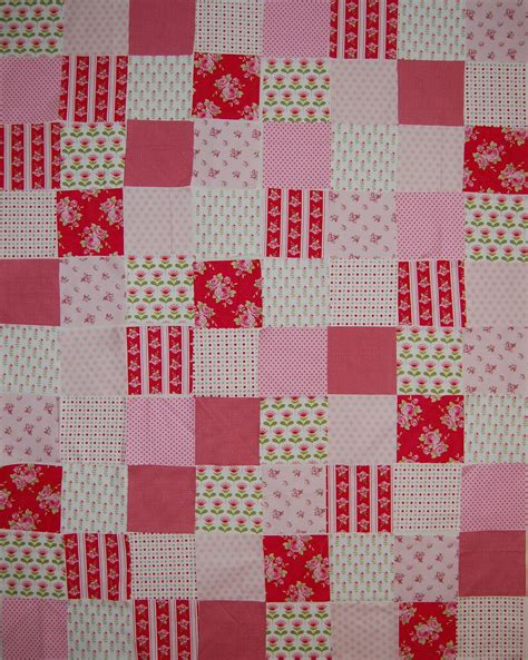Pink Cot Quilt by Design Wip Pink Tilda Cot Quilt