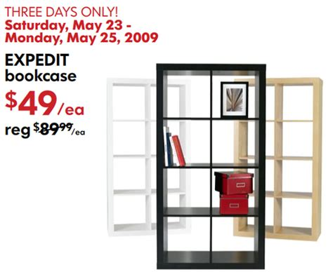 when does ikea have sales sale alert ikea expedit bookcase popsugar home