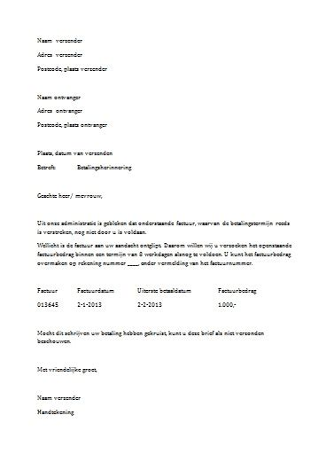 Informele Briefformat Gratis Formele Brief In Word