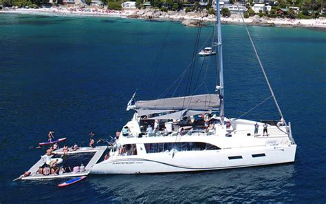 the mirage catamaran cape town day charters cape town v a waterfront luxury yacht