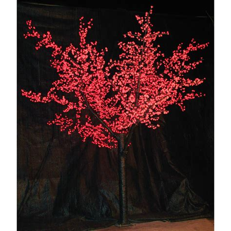 12 ft pre lit led cherry blossom tree red christmas