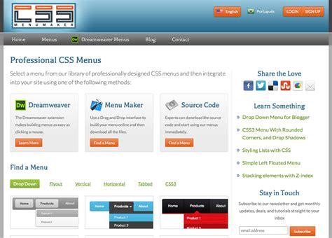 tutorial css menu maker 25 useful tools for designers creative beacon