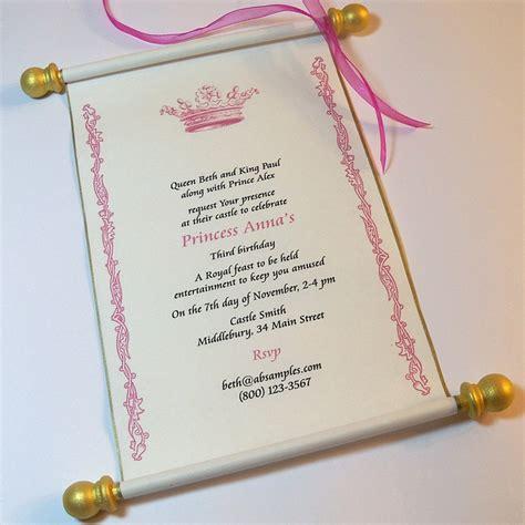 Scroll Invitations by Royal Birthday Scroll Invitation Set By Artfulbeginnings