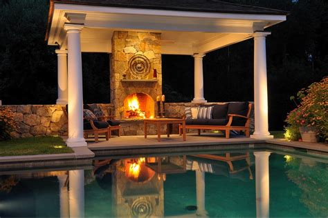 Hearth Pool And Patio Sudbury Backyard Landscaping Design Ideas Swimming Pool Fireplaces